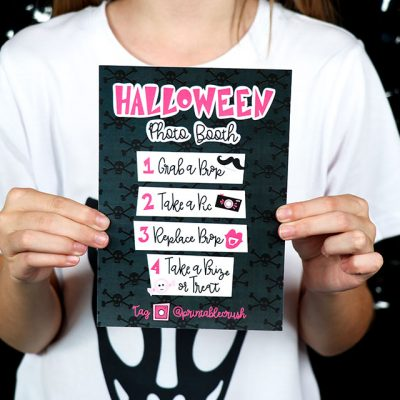 Halloween Photo Booth Instructions