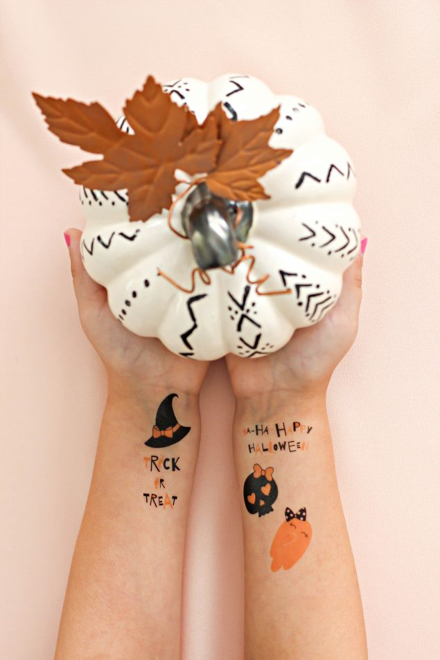 DIY Halloween Temporary Tattoos