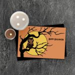 Retro Halloween Printable Card