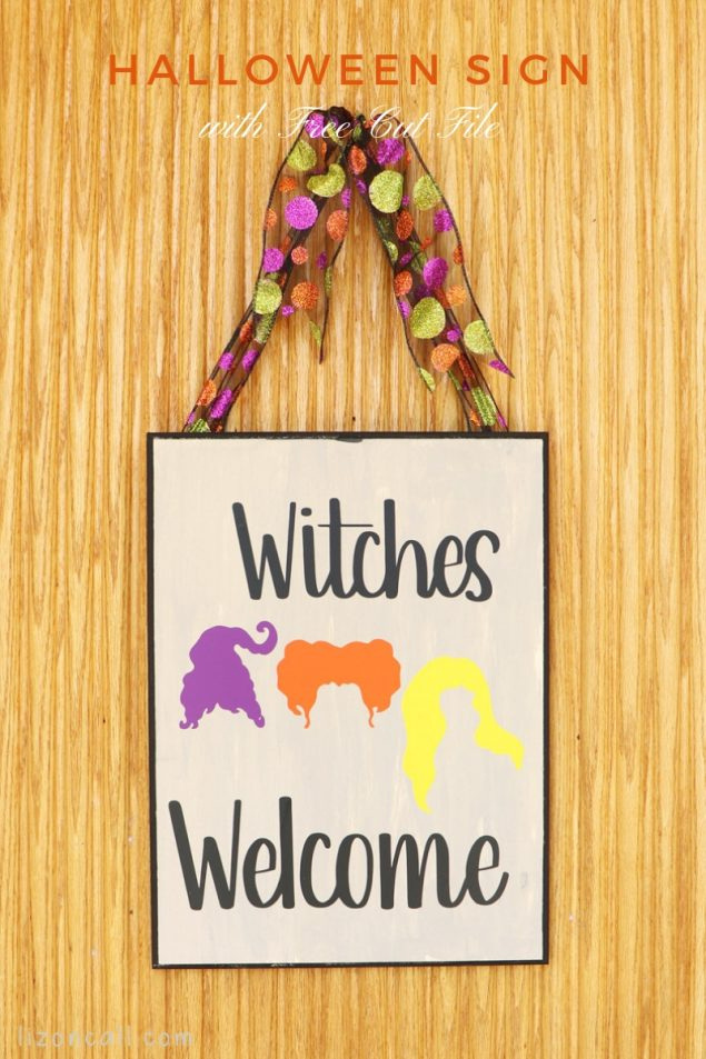 Witches Welcome Hocus Pocus Sign | Halloween Craft