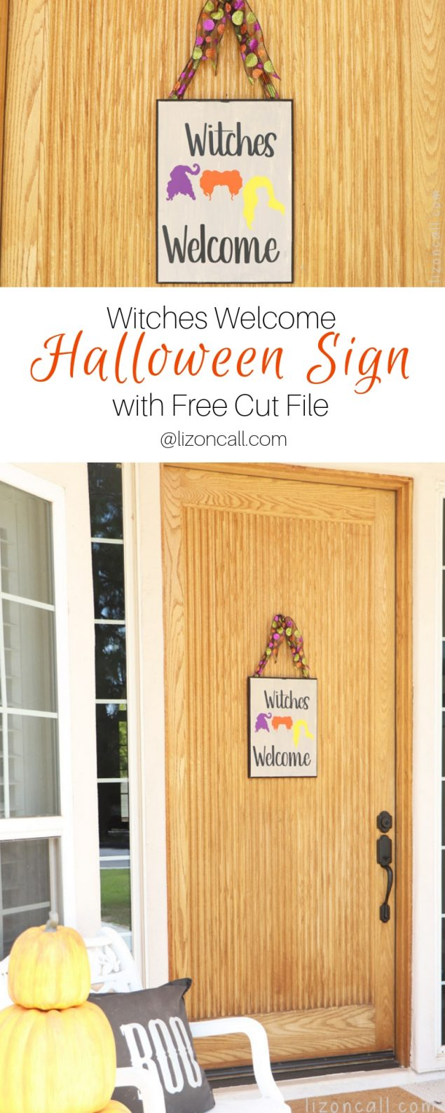 DIY Hocus Pocus Witches Welcome Sign | Includes free cut file!