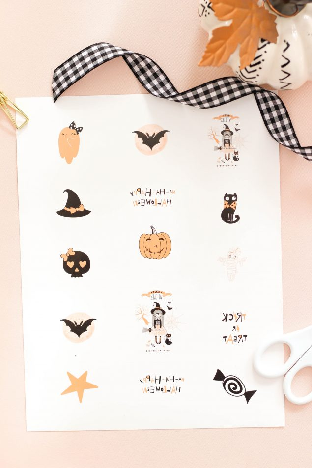 Halloween Temporary Tattoos to make for your kids!