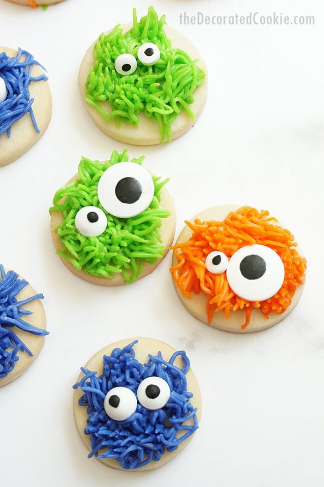 Spooky Cute Halloween treats | Monster Halloween Cookies