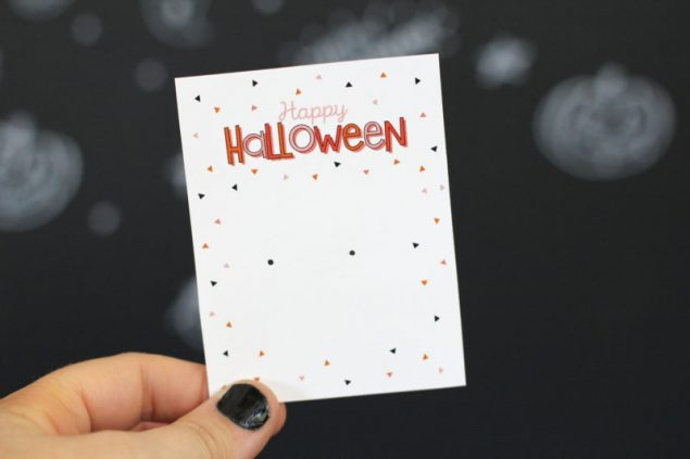 Happy Halloween Accessory Cards. Attach anything from jewelry to mini candy bars to them.