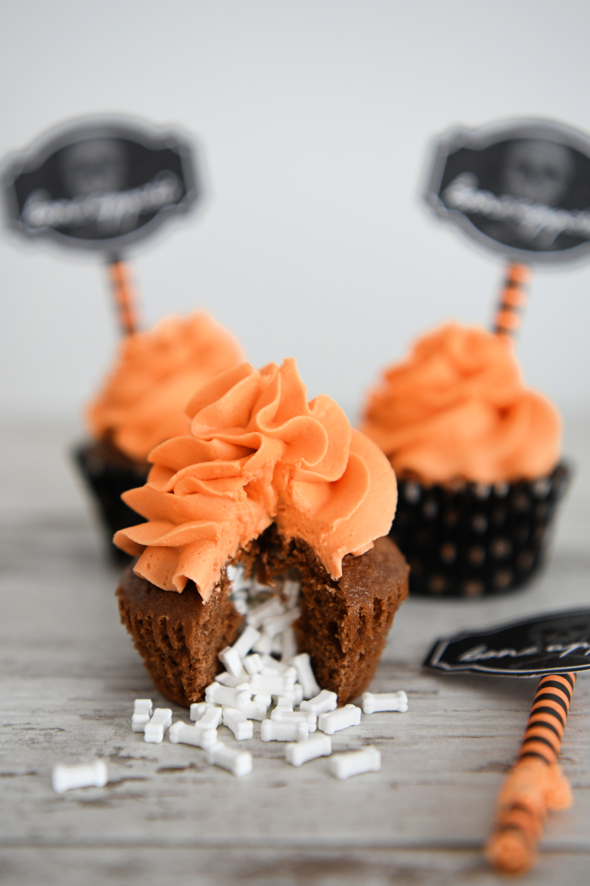 Super Fun Candy Filled Halloween Cupcakes