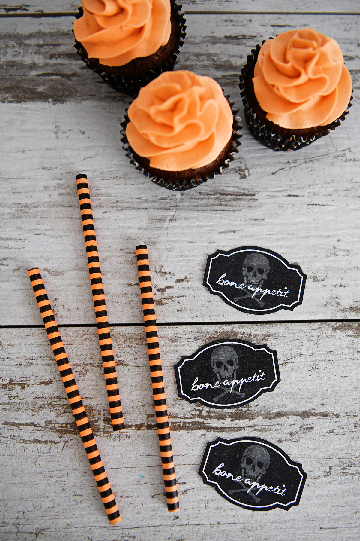 Adorable Halloween Cupcake Toppers