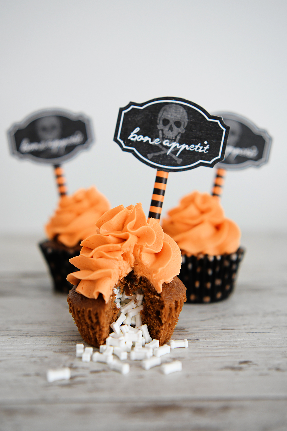 Candy Filled Halloween Cupcakes