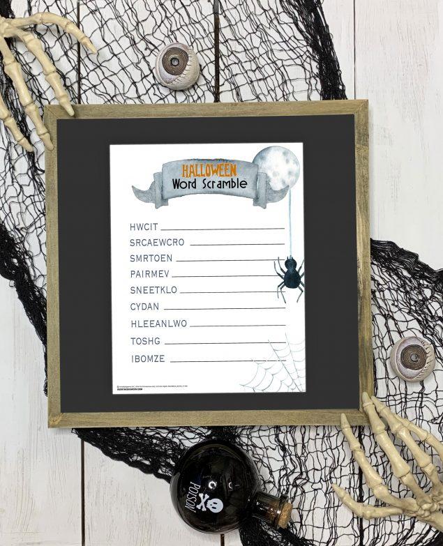 Printable Halloween Word Scramble | Halloween Games
