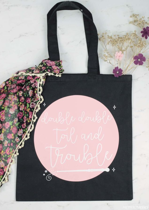 Halloween Tote Bag - Double Double Toil and Trouble
