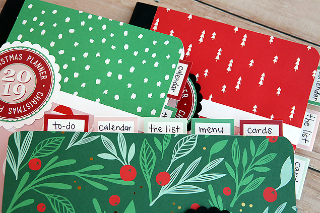 Divider tabs in our Christmas Planner