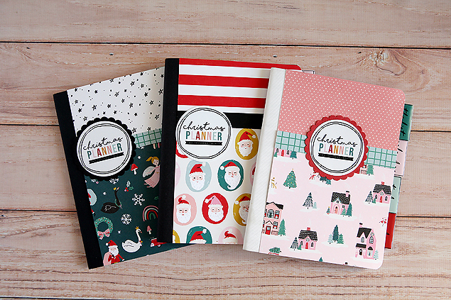 Adorable Christmas Planners made out of composition notebooks!