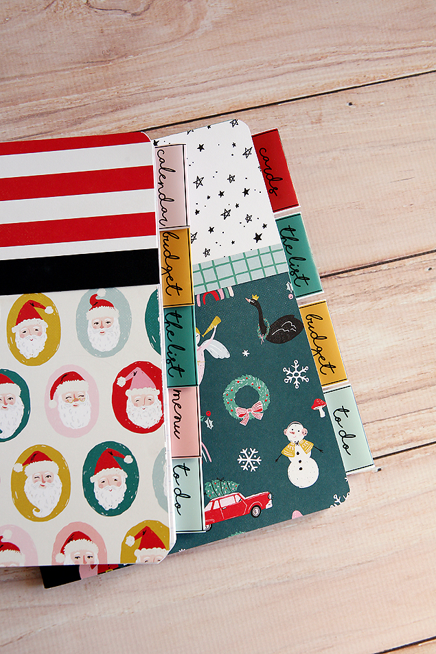 Holiday Planner you can make out of a composition notebook!