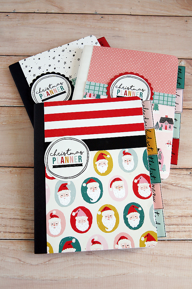 DIY Christmas Planners. There are so fun to make! Includes the free printable tags so you can make your own. #ChristmasPlanner #ChristmasPrintables