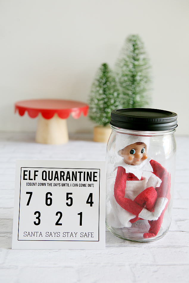 Free Printable Elf On The Shelf Quarantine countdown. The kids will get a kick out of this!