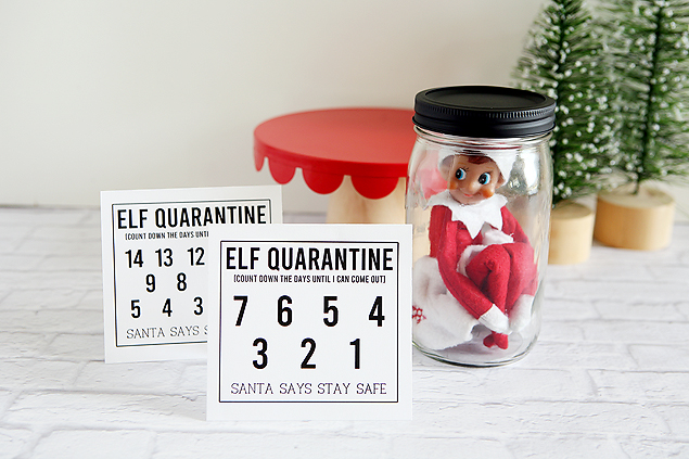 Fun Elf Quarantine printables. Will yours quarantine for 7 or 14 days?