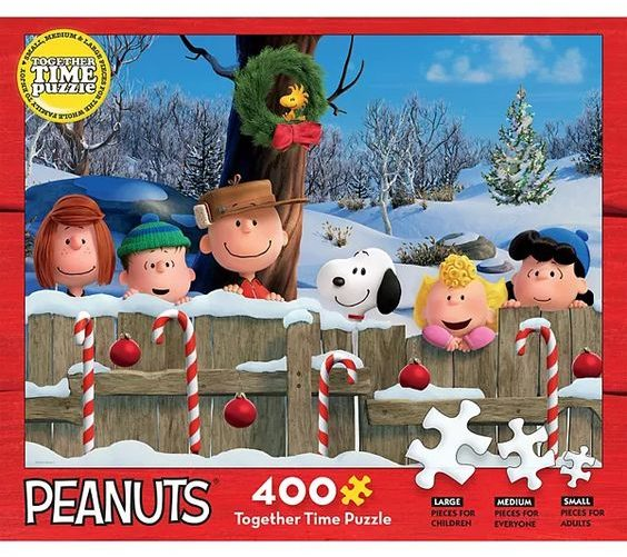 Peanuts Candy Cane Together Time Puzzle