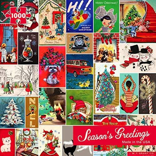 Season's Greetings 1000 piece Christmas Puzzle